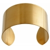 Brass Cuff Bracelets Flat Band 1.5In Wide - pack of 6